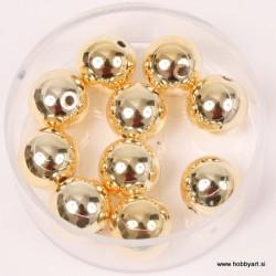 Metalne perle Zlata A kvaliteta 10mm, 10 kosov