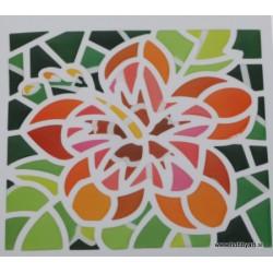 Mozaik nalepka Hibiscus 10 x 10cm