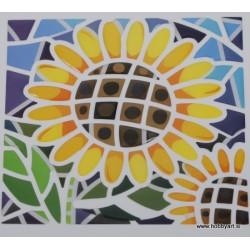 Mozaik nalepka Sončnica 10 x 10cm