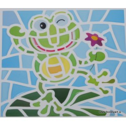 Mozaik nalepka Žaba 10 x 10cm
