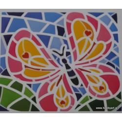 Mozaik nalepka Metulj 10 x 10cm