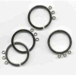 Kovinski zaključni obroči z zankami odprt - zaprt 20mm, 2 kosa