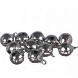 Zvončki 10mm, Srebrne barve 12 kosov