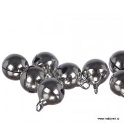 Zvončki 12mm, Srebrne barve 8 kosov