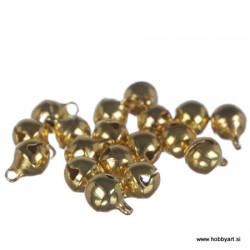 Zvončki 6mm, Zlate barve 20 kosov