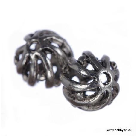 Kovinske filigranske perle 10mm Φ luknje 1mm, 2 kosa