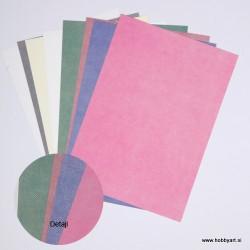 Komplet papirjev A4 Tekstilni izgled 8 listov 200g.