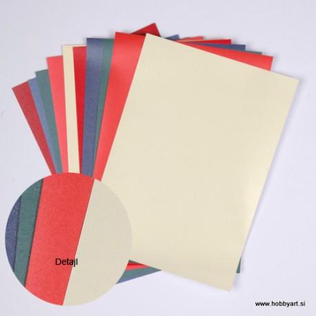 Koplet metalnih papirjev A4 5 listov 120g. 5 listov 250g.