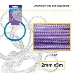 Embossirana žica iz aluminija 2mm x 5m, Roza