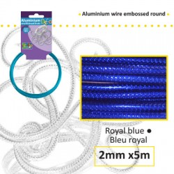 Embossirana žica iz aluminija 2mm x 5m, Kraljevsko modra