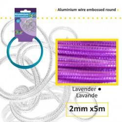 Embossirana žica iz aluminija 2mm x 5m, Lavanda