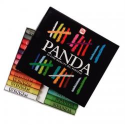 Panda šolski oljni pasteli set 24