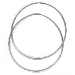 Obroč z zaključkom 9 delni pr. 45cm, Srebrna b. 2 kosa
