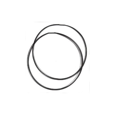 Obroč z zaključkom 9 delni pr. 45cm, Črna b. 2 kosa