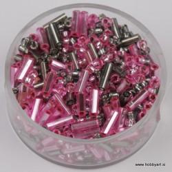 Perle 2,6 + palčke, roza-sive, 17g.