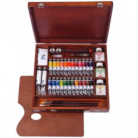 Van Gogh oljni set v lesenem kovčku expert box 26