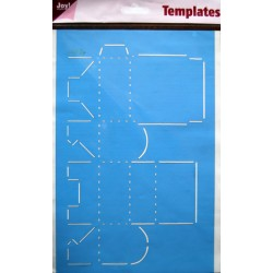 Šablona A4 formata za škatlice Torbica