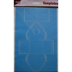 Šablona A4 formata za škatlice Ptičnica