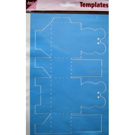 Šablona A4 formata za škatlice Medvedki