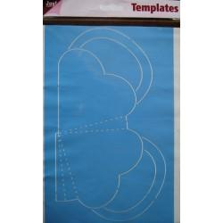 Šablona A4 formata za škatlice Srce