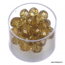 Brušene steklene perle 8 x 10mm, Topas 24 kosov