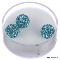 Shamballa perle s kristali, Aqua marin 3 kosi