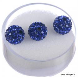 Shamballa perle s kristali, Saphir 3 kosi