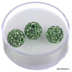 Shamballa perle s kristali, Zelena 3 kosi