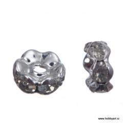 Kovinski obročki z biseri 6mm, 10 kosov