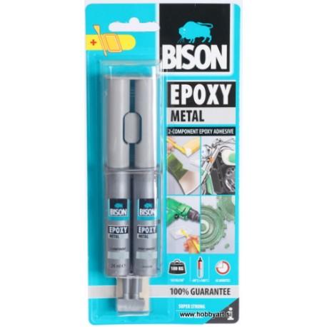 Bison epoxy Metal dvokomponentno lepilo 24ml