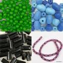 Lesene perle, obeski različnih oblik in velikosti