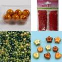 Akrilne perle različnih oblik in velikosti