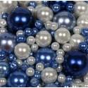 Steklene perle mešane cca 3 do 14mm