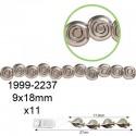 Akrilne perle kovinskega videza velike