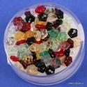 Steklene perle rože 5mm, 100 kosov
